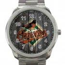 Baltimore Orioles MLB Baseball Team Design 2 Unisex Sport Metal Watch