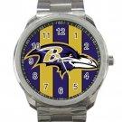 Baltimore Ravens NFL Football Team Unisex Sport Metal Watch