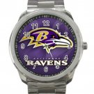 Baltimore Ravens NFL Football Team Design 1 Unisex Sport Metal Watch