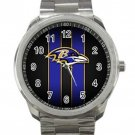 Baltimore Ravens NFL Football Team Design 3 Unisex Sport Metal Watch