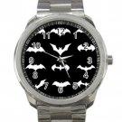 Batman Logo Superhero Justice League Logo Unisex Sport Metal Watch