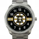 Boston Bruins NHL Ice Hockey Teams Logo 1 Unisex Sport Metal Watch