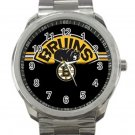 Boston Bruins NHL Ice Hockey Teams Logo 2 Unisex Sport Metal Watch