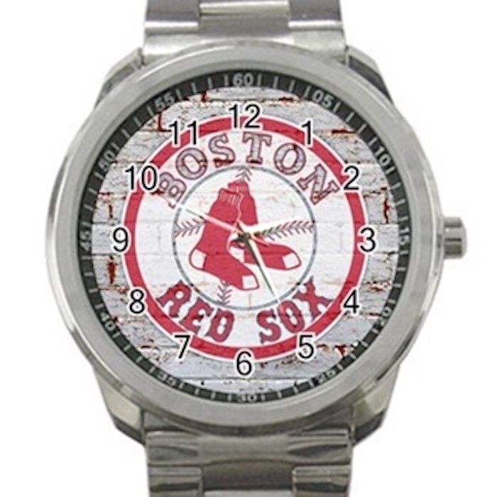 Boston Red Sox MLB Baseball Team Unisex Sport Metal Watch