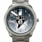 Brooklyn Nets NBA Basketball Team Unisex Sport Metal Watch