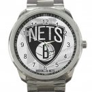 Brooklyn Nets NBA Basketball Team Logo 2 Unisex Sport Metal Watch