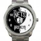Brooklyn Nets NBA Basketball Team Logo 3 Unisex Sport Metal Watch