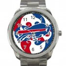 Buffalo Bills NFL Football Team Logo 1 Unisex Sport Metal Watch