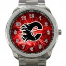 Calgary Flames NHL Ice Hockey Teams Logo 2 Unisex Sport Metal Watch