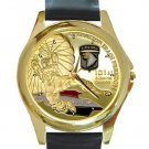 Operation Iraqi Freedom 101st Airborne Division Unisex Round Gold Metal Watch