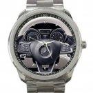 Mercedes AMG SLC 43 Steering Wheel Unisex Sport Metal Watch