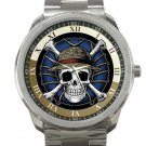 Nice One Piece Skeleton Unisex Sport Metal Watch