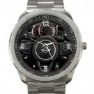 Mini Cooper Steering Wheel Unisex Sport Metal Watch