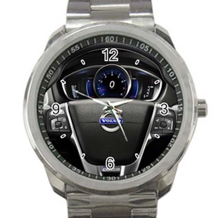 Volvo V40 Steering Wheel Unisex Sport Metal Watch