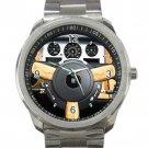 Rolls Royce Phantom Brown Steering Wheel Unisex Sport Metal Watch