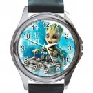 Guardians of the Galaxy Movie Groot Unisex Round Silver Metal Watch