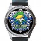 Legends Of Zelda Hyrule Warriors Legends Unisex Round Silver Metal Watch