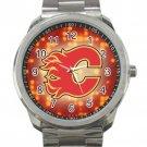 Calgary Flames NHL Ice Hockey Teams Logo 4 Unisex Sport Metal Watch