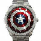 Captain America Avengers Shield Unisex Sport Metal Watch