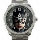 Captain America Avengers Chris Evans Unisex Sport Metal Watch