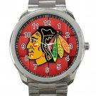 Chicago Blackhawks NHL Ice Hockey Teams Logo 1 Unisex Sport Metal Watch