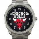 Chicago Bulls NBA Basketball Team Logo 3 Unisex Sport Metal Watch