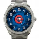 Chicago Cubs MLB Baseball Team Logo 5 Unisex Sport Metal Watch