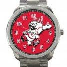 Cincinnati Reds MLB Baseball Team Mascot Unisex Sport Metal Watch