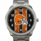 Cleveland Browns NFL Football Team Helmet Unisex Sport Metal Watch