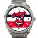Cleveland Indians MLB Baseball Team Logo Unisex Sport Metal Watch