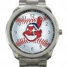 Cleveland Indians MLB Baseball Team Logo 2 Unisex Sport Metal Watch