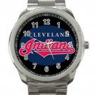 Cleveland Indians MLB Baseball Team Logo 3 Unisex Sport Metal Watch