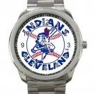 Cleveland Indians MLB Baseball Team Logo 5 Unisex Sport Metal Watch