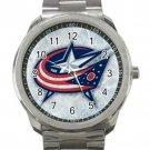 Columbus Blue Jackets NHL Ice Hockey Unisex Sport Metal Watch