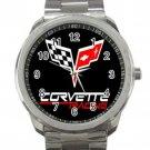 Corvette Car Logo Unisex Sport Metal Watch