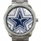 Dallas Cowboys NFL Football Team Logo Unisex Sport Metal Watch