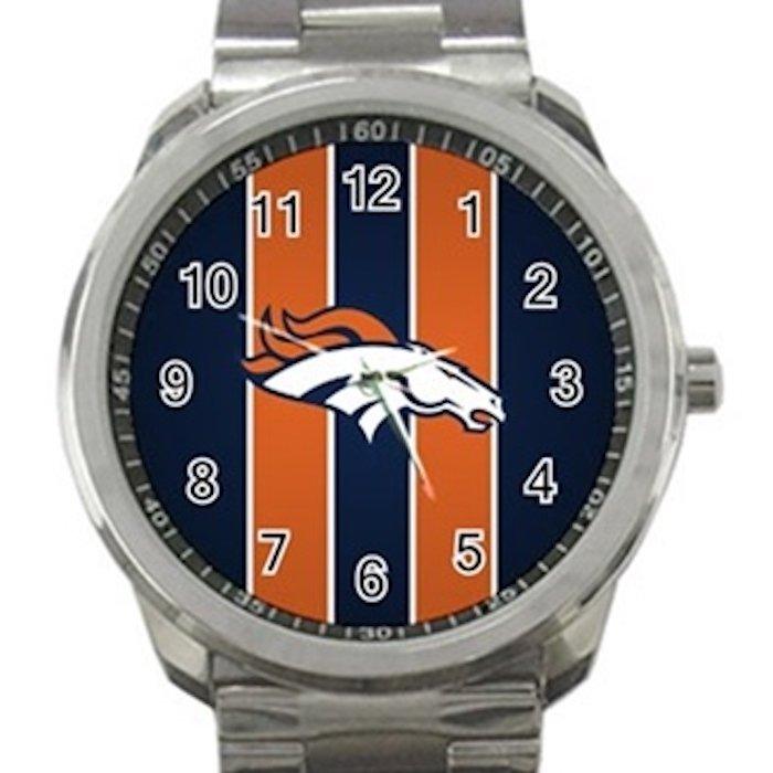 Denver Broncos NFL Football Team Logo 3 Unisex Sport Metal Watch