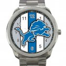 Detroit Lions NFL Football Team Logo Unisex Sport Metal Watch