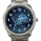 Detroit Lions NFL Football Team Logo 3 Unisex Sport Metal Watch