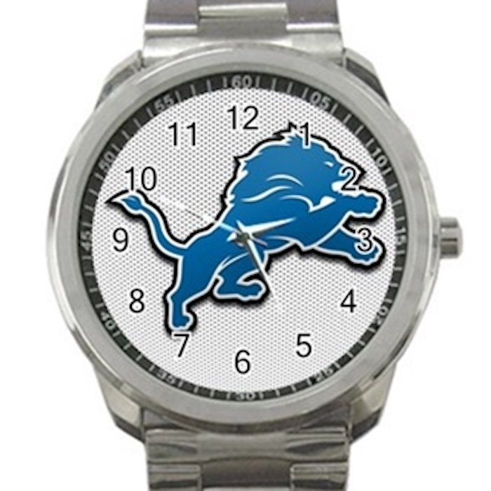 Detroit Lions NFL Football Team Logo 4 Unisex Sport Metal Watch