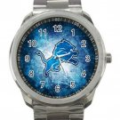 Detroit Lions NFL Football Team Logo 5 Unisex Sport Metal Watch