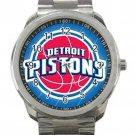 Detroit Pistons NBA Basketball Team Unisex Sport Metal Watch