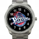 Detroit Pistons NBA Basketball Team Logo 2 Unisex Sport Metal Watch