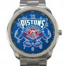 Detroit Pistons NBA Basketball Team Logo 3 Unisex Sport Metal Watch