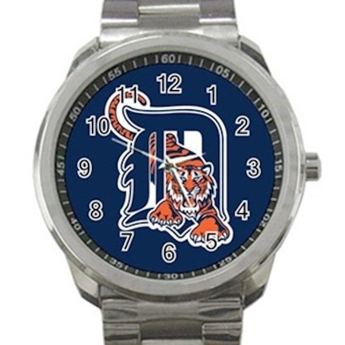 Detroit Tigers MLB Baseball Team Unisex Sport Metal Watch