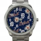 Detroit Tigers MLB Baseball Team Logo 2 Unisex Sport Metal Watch