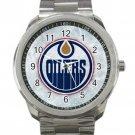 Edmonton Oilers NHL Ice Hockey Teams Logo Unisex Sport Metal Watch