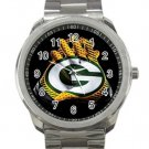 Green Bay Packers NFL Football Team Unisex Sport Metal Watch
