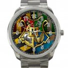 Harry Potter Hogwarts Crest Logo 1 Unisex Sport Metal Watch