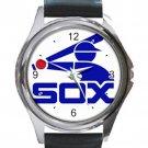CHICAGO WHITE SOX VINTAGE LOGO Unisex Round Silver Metal Watch